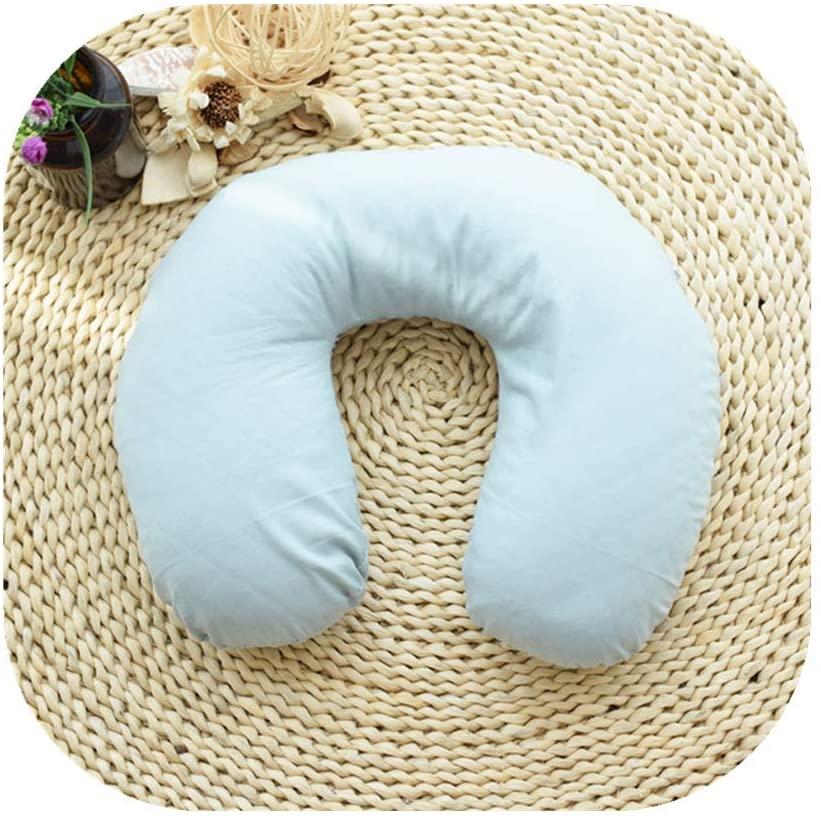 Edomi Buckwheat Neck Pillow Comfortable U Shaped Travel Pillow Neck Pain Relief Pillows Portable Pillow for Sleeping Recliner Chair Washable Pillowcase Buckwheat Hulls Filling (Macaron Blue)