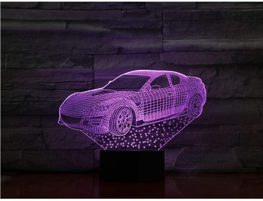 Car 7 Colors Table Lamp Led Night Light for Kids Gift Home Decor Lighting Mood Lights