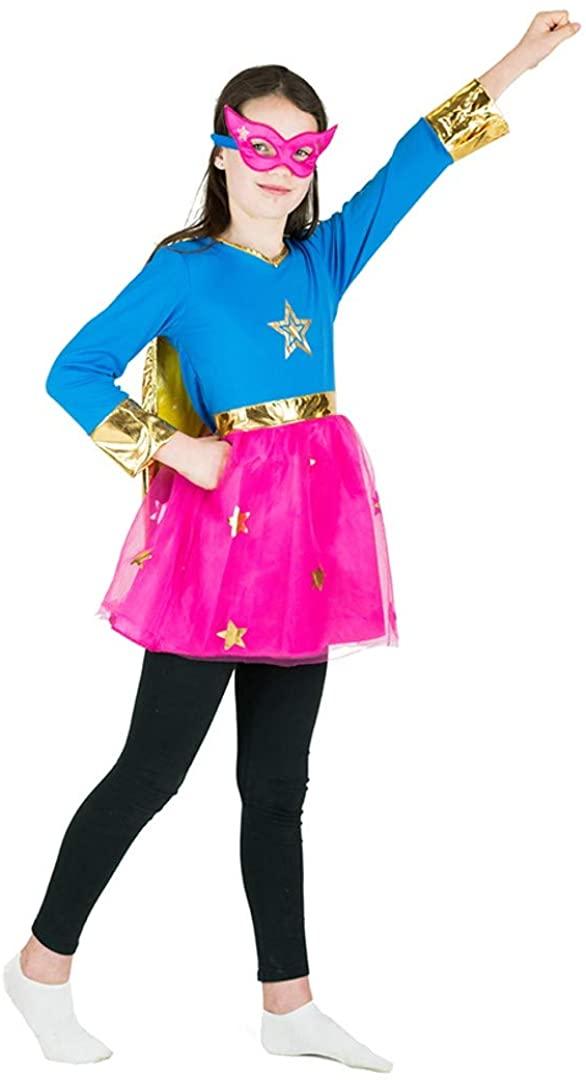 Bodysocks Girls Superhero Fancy Dress Costume (3-5 years)