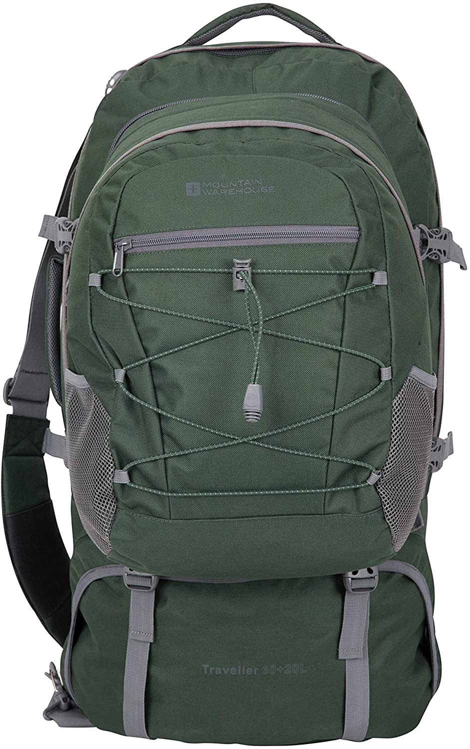 Mountain Warehouse Traveller 60 + 20L Travel Backpack - for Camping, Outdoor Rucksack with Detachable Daypack