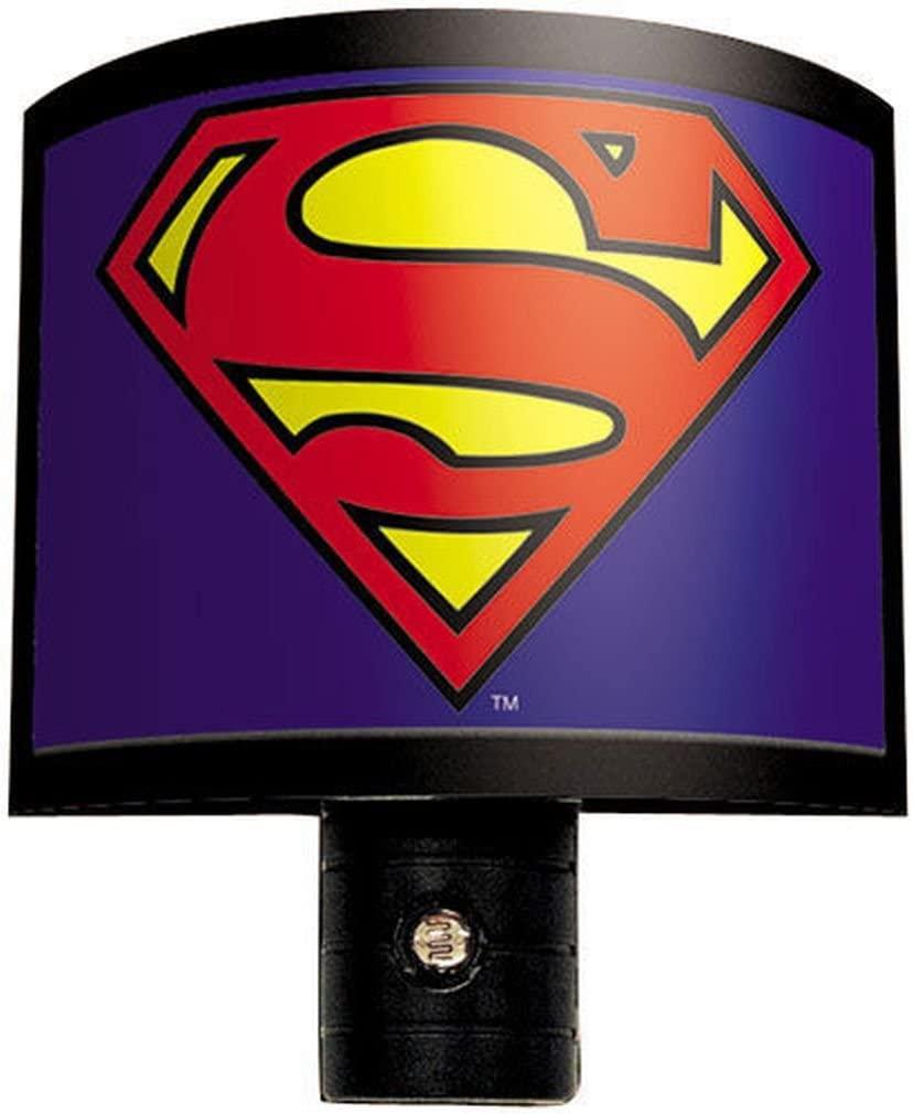 Ata-Boy DC Comics Superman Logo Automatic On/Off LED Bulb Nite Lite