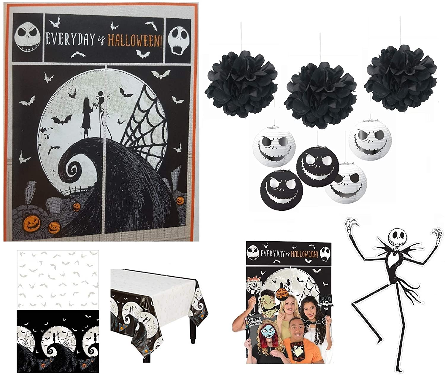 Nightmare Before Christmas Party Supplies Halloween Decorations Pack Scene Setter 50