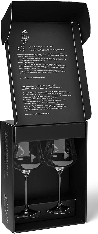 Gabriel-Glas - Set of 2 - Mouth-Blown Austrian Crystal Wine Glass - Gold Edition