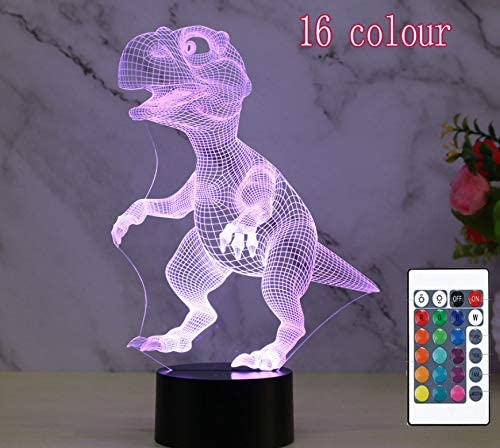 New Dinosaur 9 3D Night Light Touch Remote Control Decorative Gift Atmosphere 16 Colour Night Light