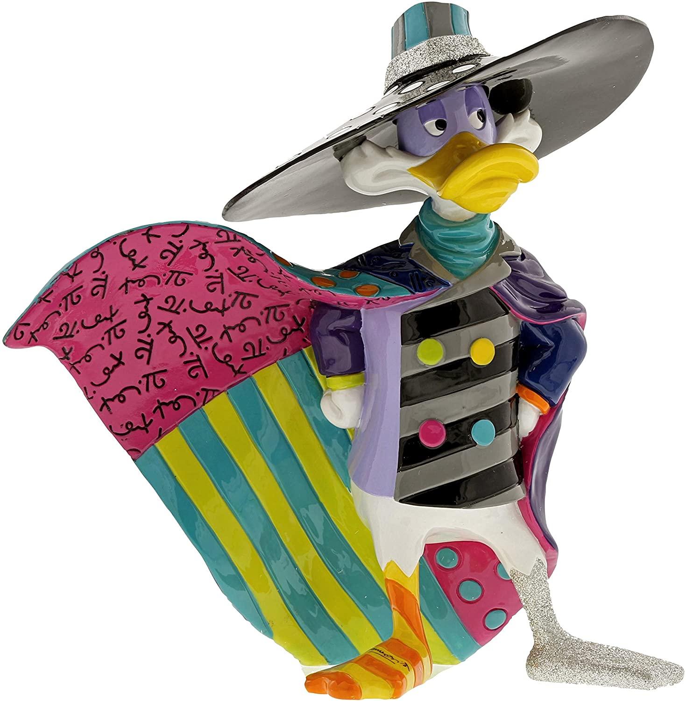 Enesco Disney by Britto Dark Wing Duck Stone Resin Figurine, Multicolor