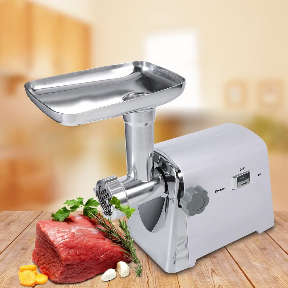 Meat Grinder, 150-250W Heavy Duty Stainless Steel Electric Meat Grinder with 3 Cutting Blades for Home Use