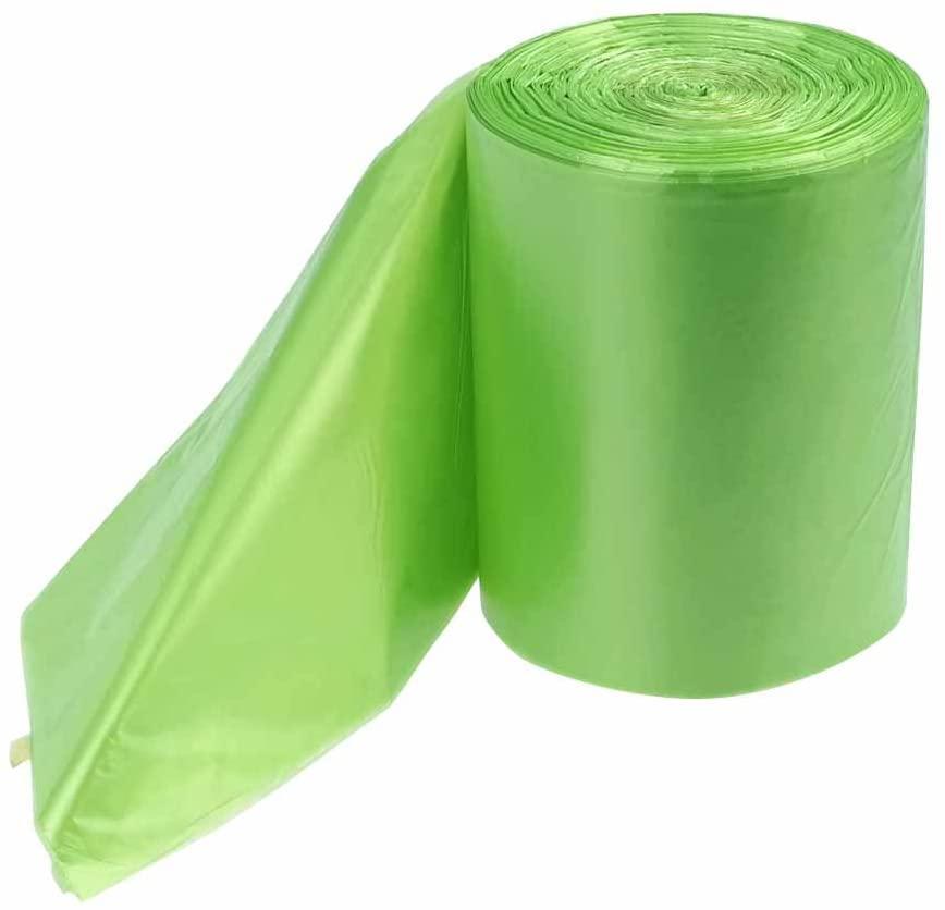 Kekow 1.2 Gallon Small Trash Bags, Green, 125 Counts