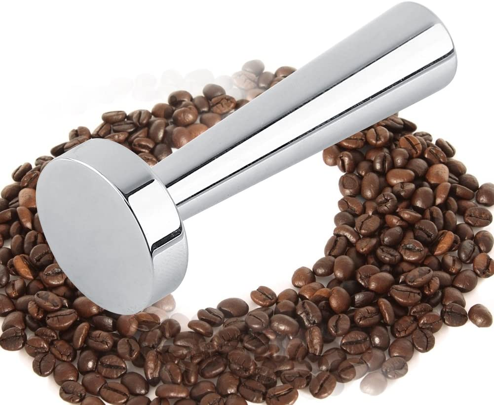 FAMKIT Solid Espresso Coffee Tamper Tool Compatible with Nespresso Capsule Machine Stainless Steel Coffee Tamper