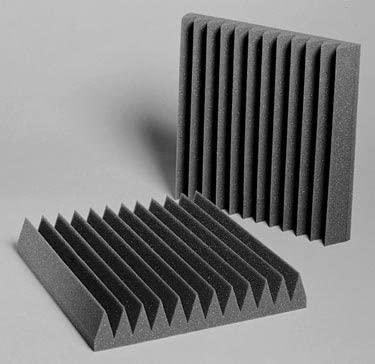 Auralex Acoustics Studiofoam Acoustic Absorption Foam, 2 x 12 x 12, 96 Panels, Charcoal, Wedgie_424