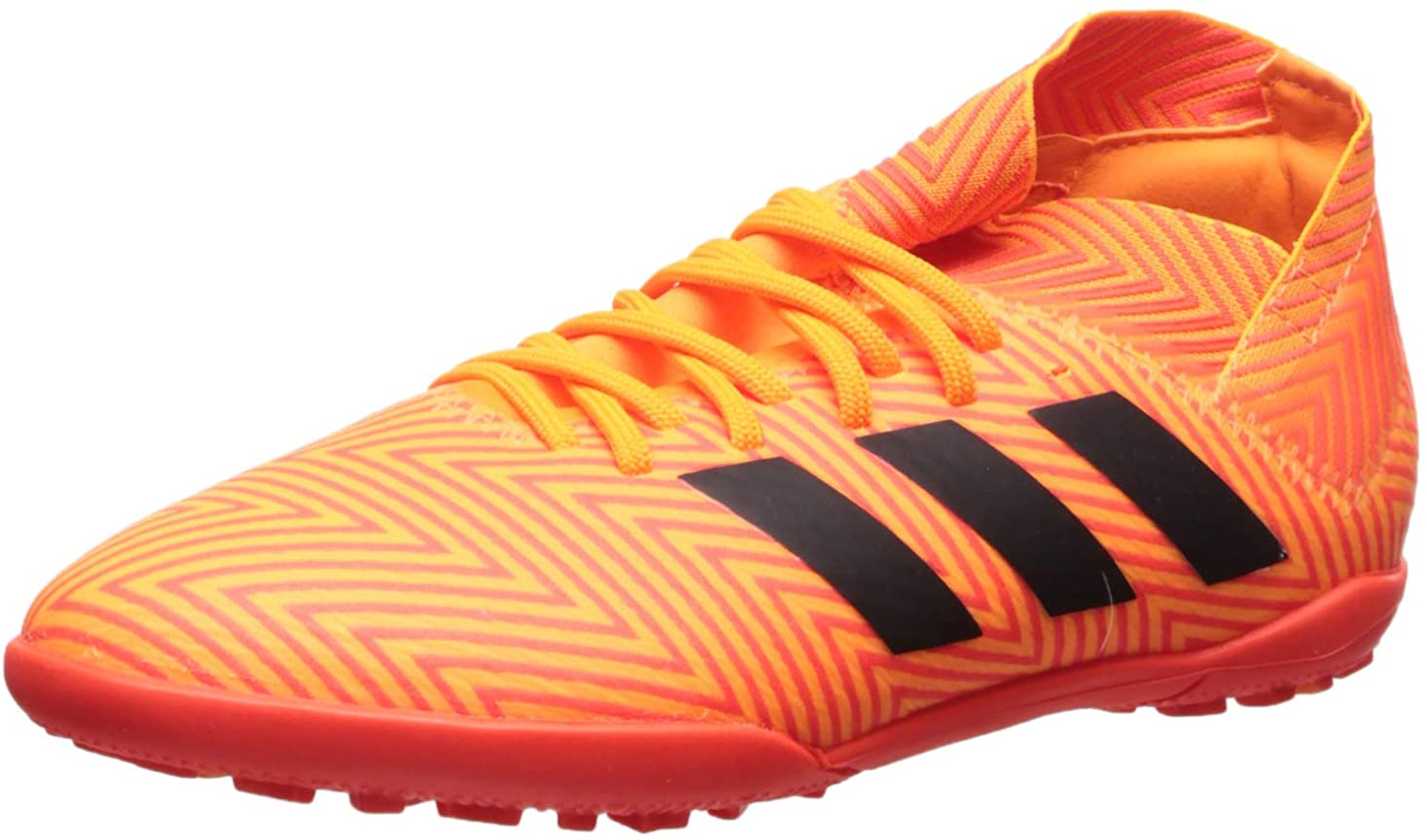 adidas Unisex-Kid's Nemeziz Tango 18.3 TF J Running Shoe, Zest/core Black/Solar red, 12K M US Big Kid