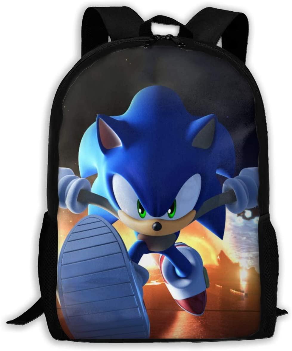 Sonic The Hedgehog 8 Backpack Shoulder Bag Travel Bags Laptop Bag School Bag For Boys Girls