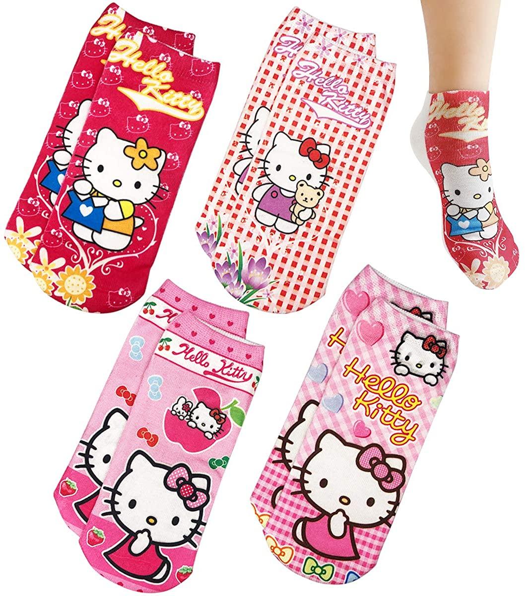 Surmoler Toddler Girls Cartoon Socks, 3-7 year old Baby Kids Animation Skid Soles Socks -Pink Pig