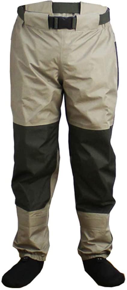 Kylebooker Breathable Stockingfoot Waist High Pant Waders KB003