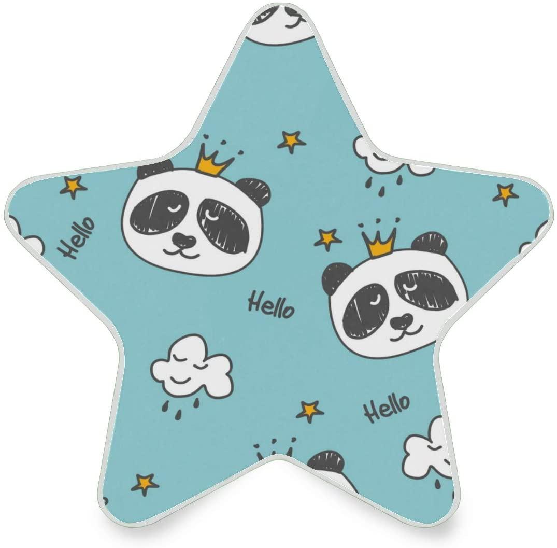 LED Night Light Star Shape Panda Queen Ultra-Slim, and Cool-Touch Dusk to Dawn Sensor Night Lamp Kids Adults and Nursery Decor Night Light