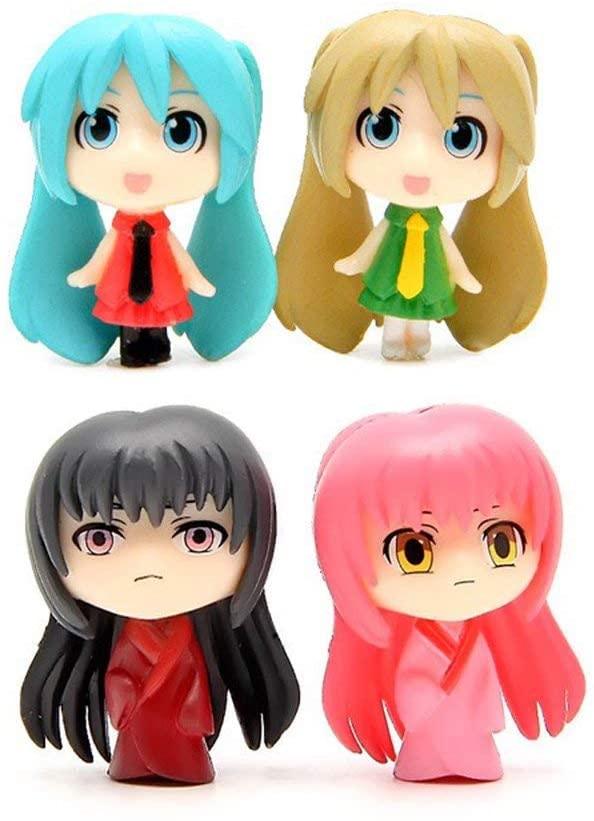 4 pcs (1 set) Cute Cartoon Girls Toys Figurines Playset, Mini Cute Toy Garden Cake Plant Decoration
