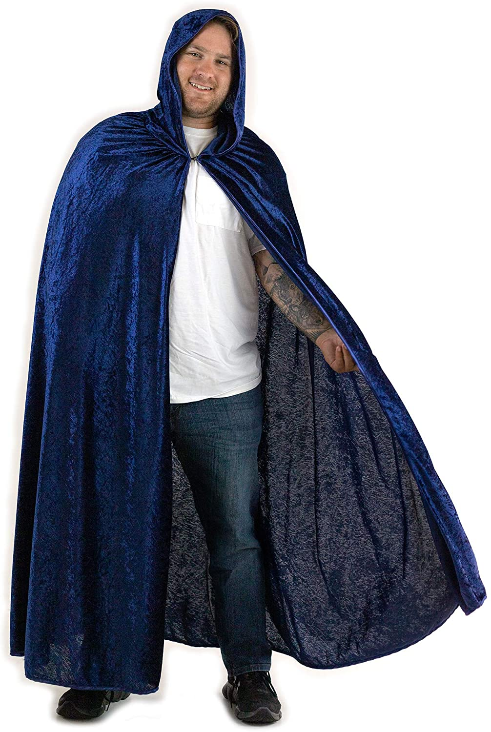 Everfan Hooded Cape for Adults | Mens Cloak with Hood for Halloween Cosplay Costume