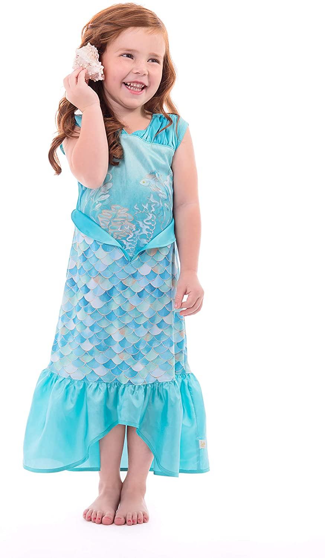 Little Adventures Mermaid Dress Up Costume for Girls (Medium Age 3-5) Blue