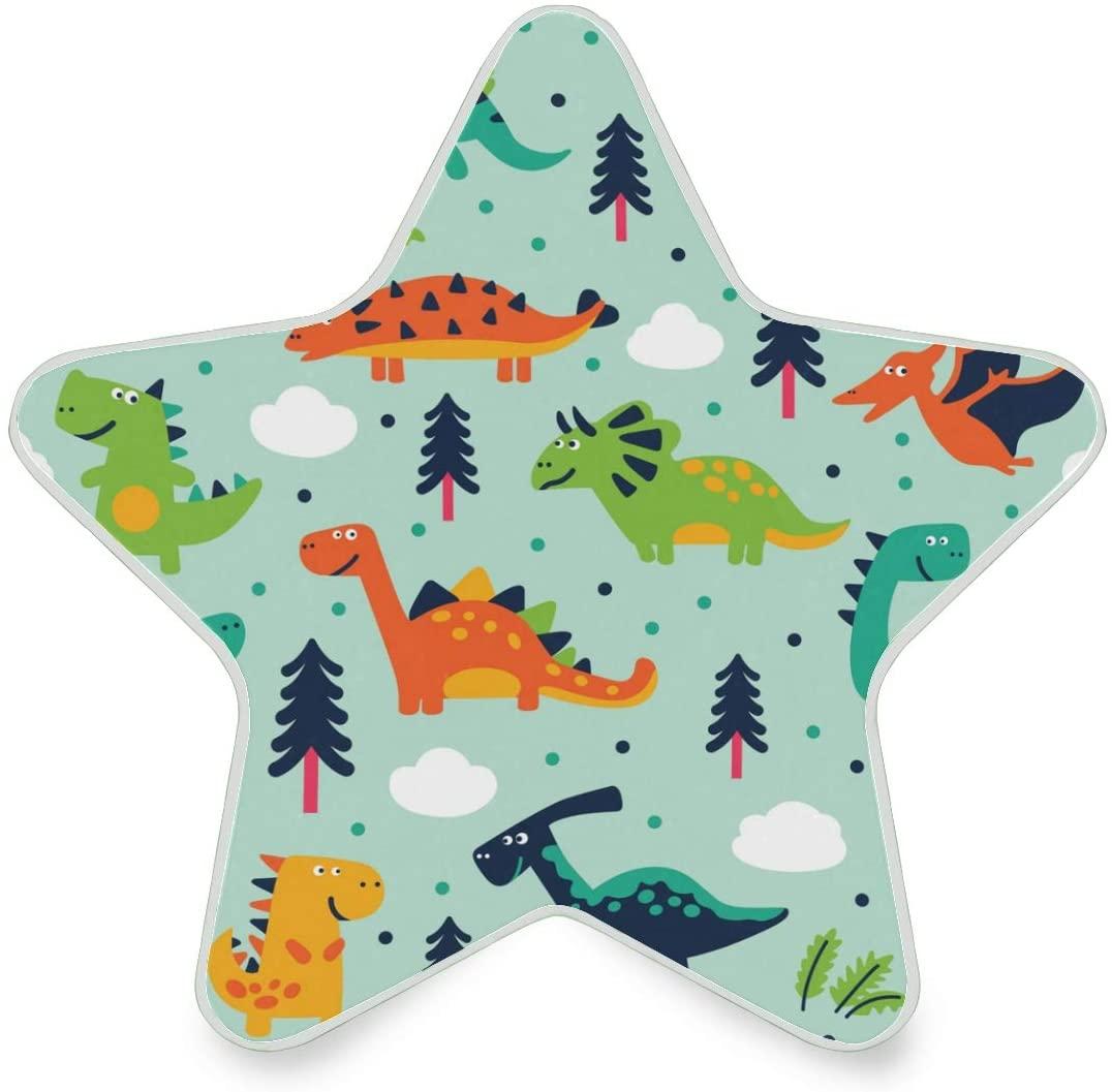 LED Night Light Star Shape Colorful Dinosaur Ultra-Slim, and Cool-Touch Dusk to Dawn Sensor Night Lamp Kids Adults and Nursery Decor Night Light