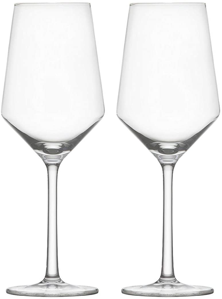 White Wine Glasses Hand Blown Crystal Clear Glass Stemware Red Wine Glass Set of 2 15-Oz Lead-Free Cups for Wine Tasting Party Drinking or Unique Gift