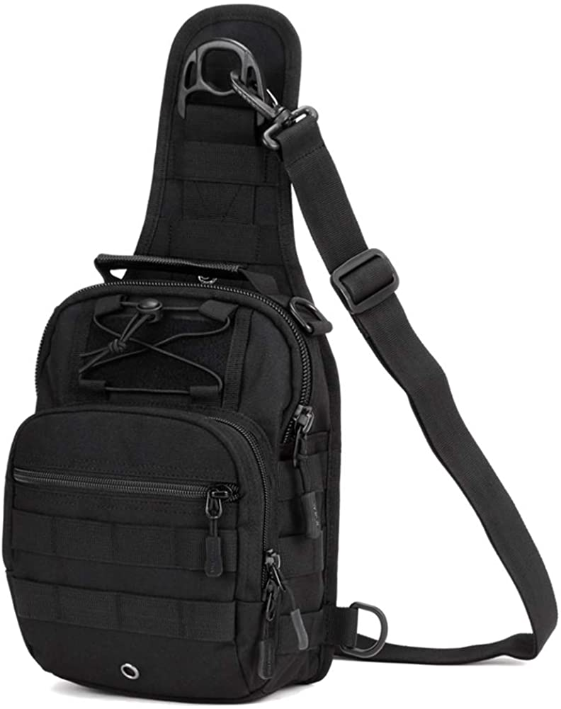 Huntvp Tactical Military Sling Chest Daypack Backpack for Hunting, Camping and Trekking