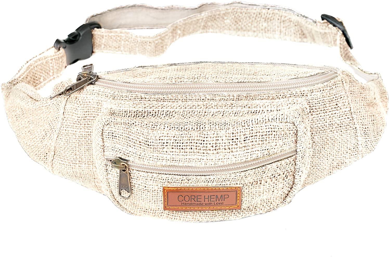 CoreHemp Fanny Pack Waist Hip Bag Handmade From Pure Hemp (Vintage)
