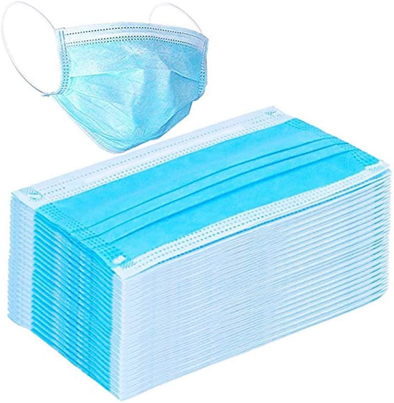 50Pcs Disposable Filter Mask 3 Ply Earloop Face Masks-B14