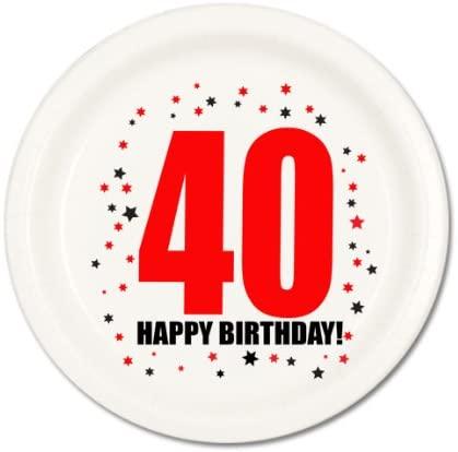 Partypro 40TH BIRTHDAY DESSERT PLATE (8/PKG)