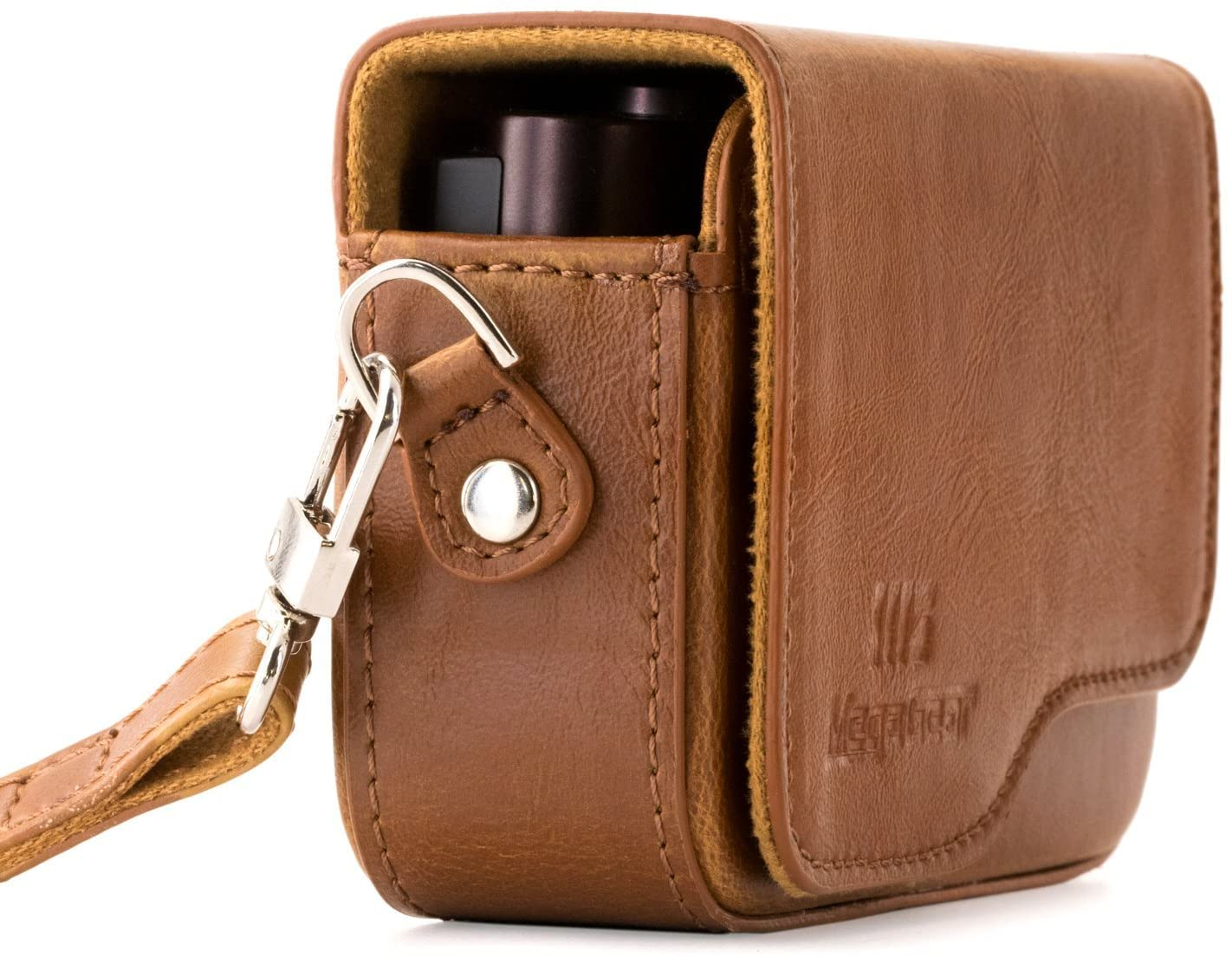 MegaGear Leather Camera Case with Strap Compatible with Leica C Typ 112