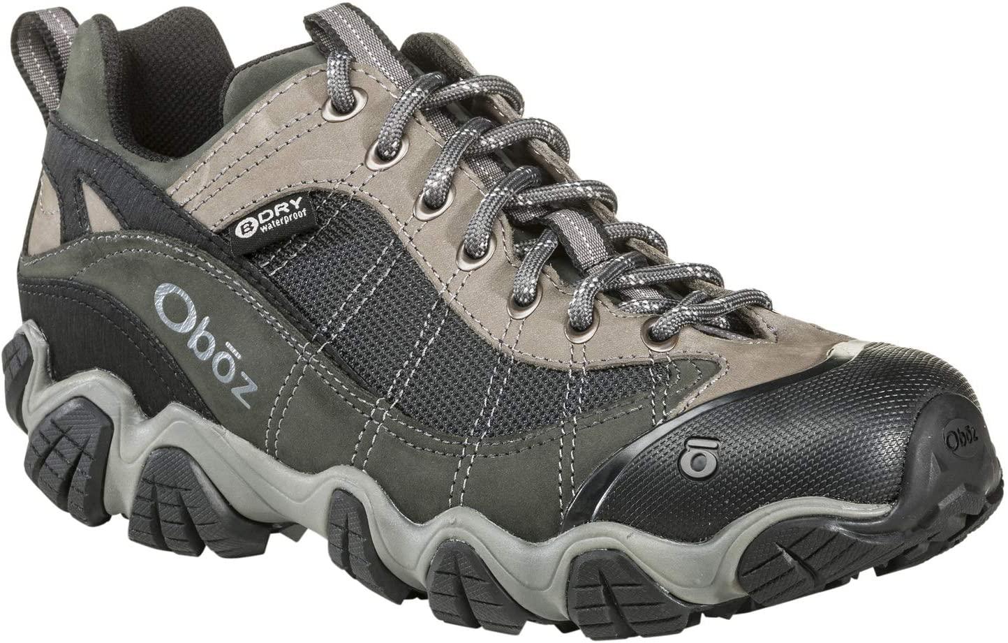 Oboz Firebrand II B-Dry Hiking Shoe - Mens Gray 14