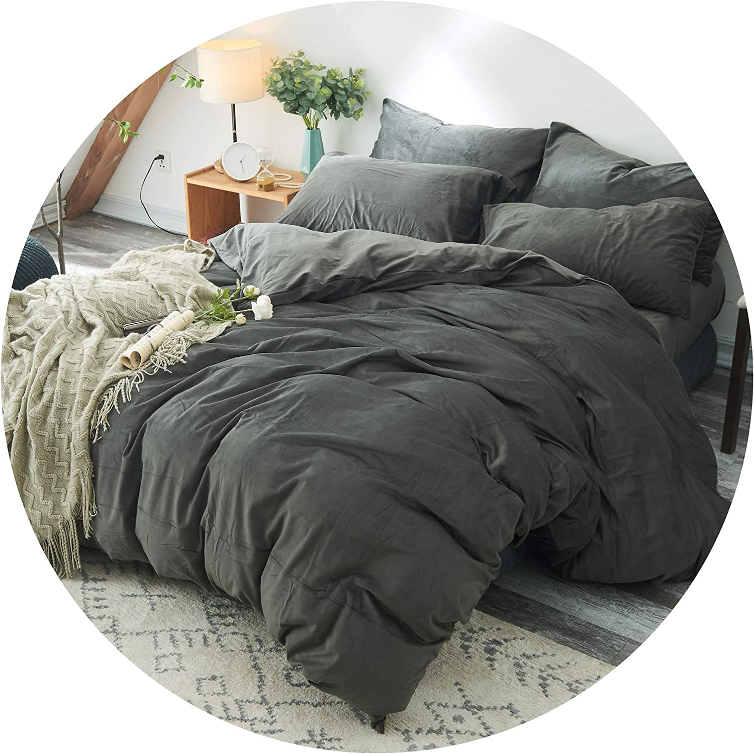 SPACE LION Premium Velvet Duvet Cover   Weighted Blanket Removable Cover 6080in   Twin Size Grey …
