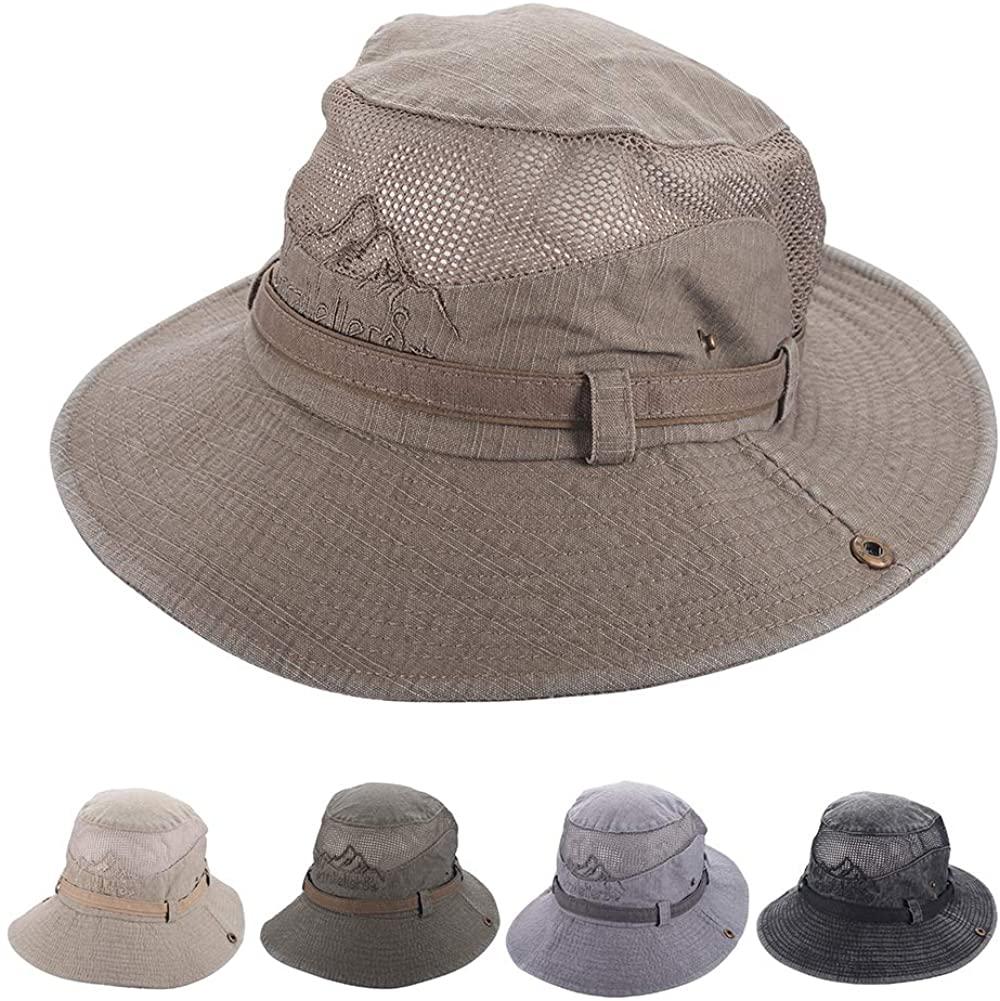 Fyore Bucket Sun Hat for Men,Fishing Hat UPF 50+ Wide Brim Boonie Hat Safari Hat