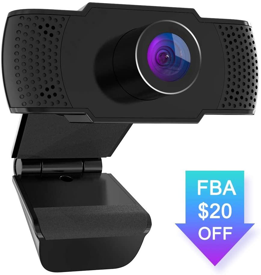 Webcam with Microphone, BOIFUN 1080P PC Laptop Desktop USB Webcams, Computer Camera for Video Calling & Recording Video Conference/Online Teaching/Business Meeting