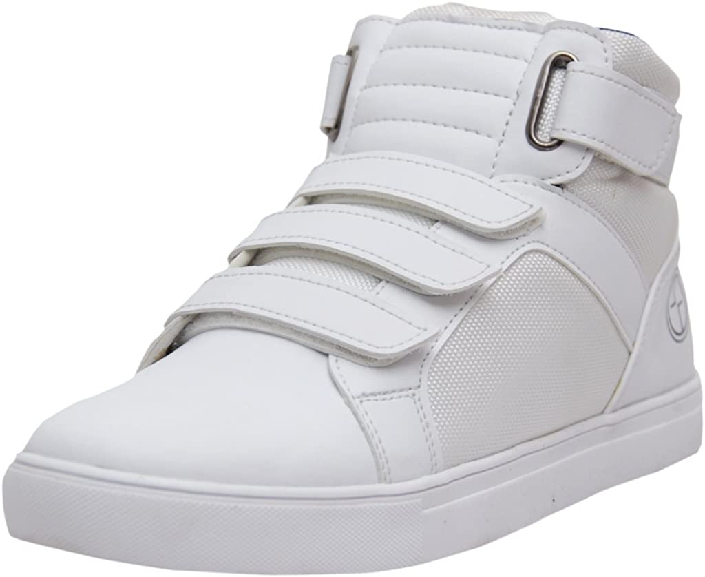 West Code Mens High Top Casual Fashion Sneakers 7080-White