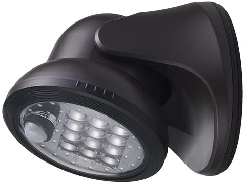 Light It! By Fulcrum, 12-LED Motion Sensor Security Light, Wireless, Battery Operated, Bronze