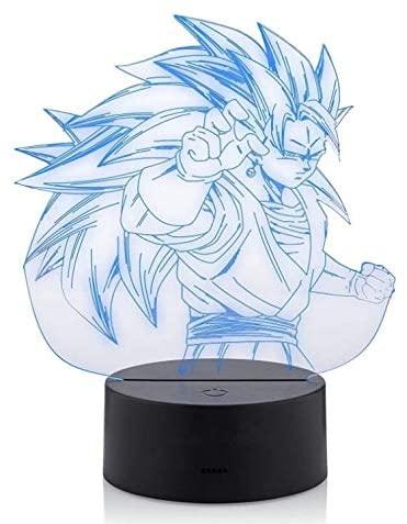 3D Dragon Ball Z LED Night Light Super Saiyan God Goku Action Figures Acrylic 3D LED USB 7 Color Change LED Table Lamp Xmas Toy Gift (Dragon Ball 3)