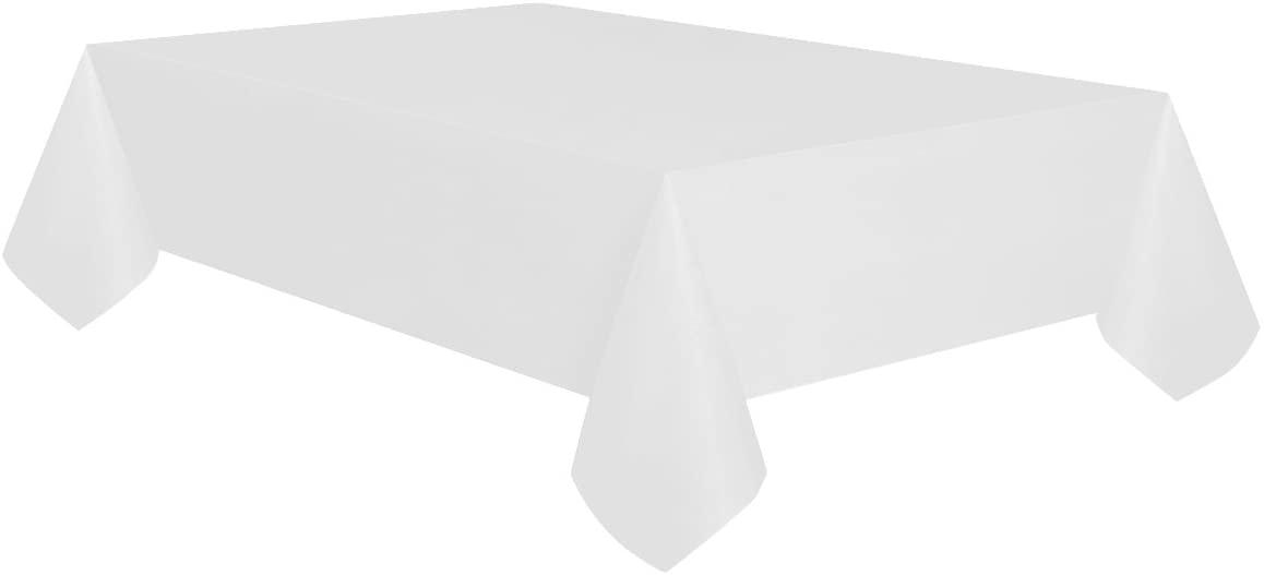 Allgala 6-Pack Premium Plastic Table Cover Medium Weight Disposable Tablecloth-6PK 54