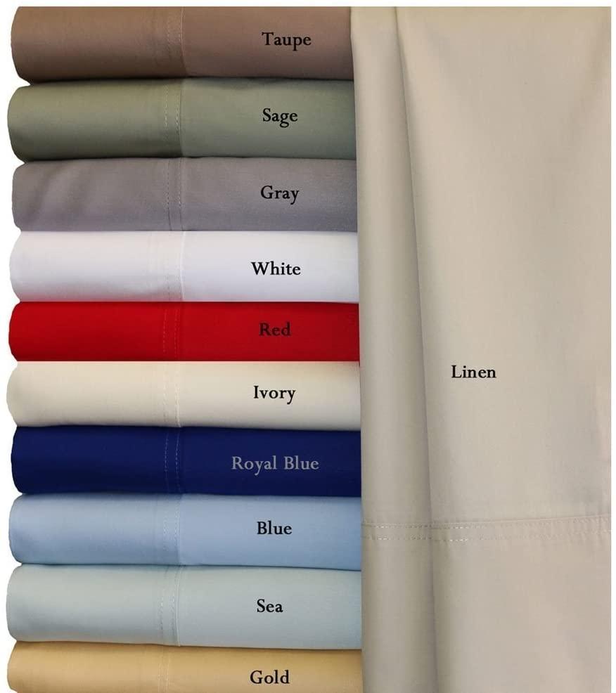 Royal Hotel Twin Extra Long Blue Silky Soft Bed Sheets 100% Bamboo Viscose Sheet Set