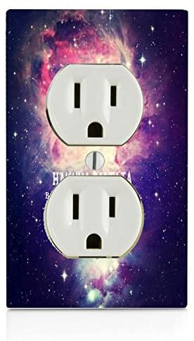 Trendy Accessories Hakuna Matata Quote Nebula Galaxy Design Pattern Print Image Electrical Outlet Plate
