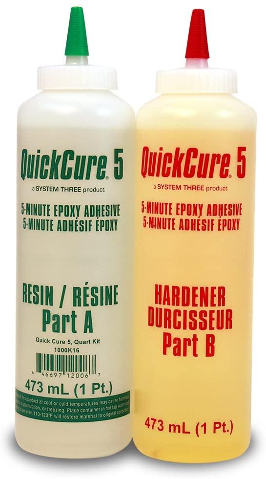 System Three 1000K16 Quick Cure 5 Kit, 1 Quart, Amber
