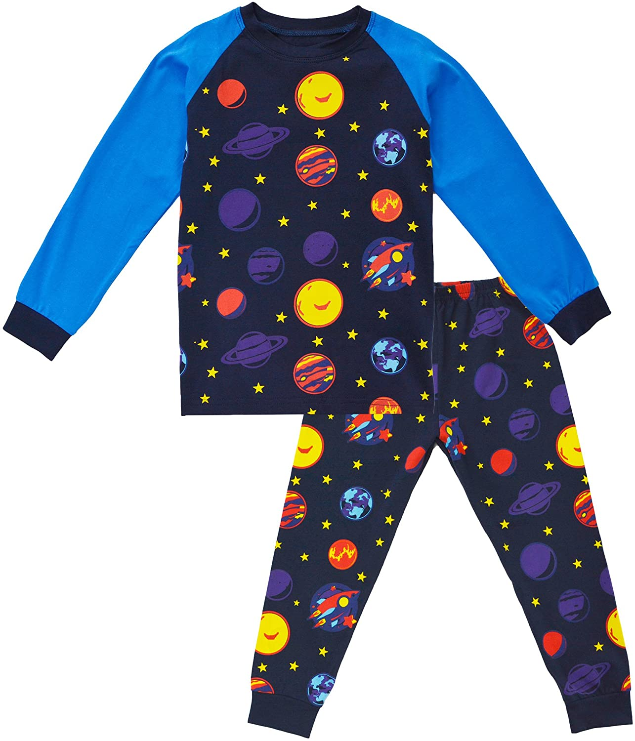 KISBINI Toddler Boys' Cartoon Cotton Pj Pjs Pajama Sets