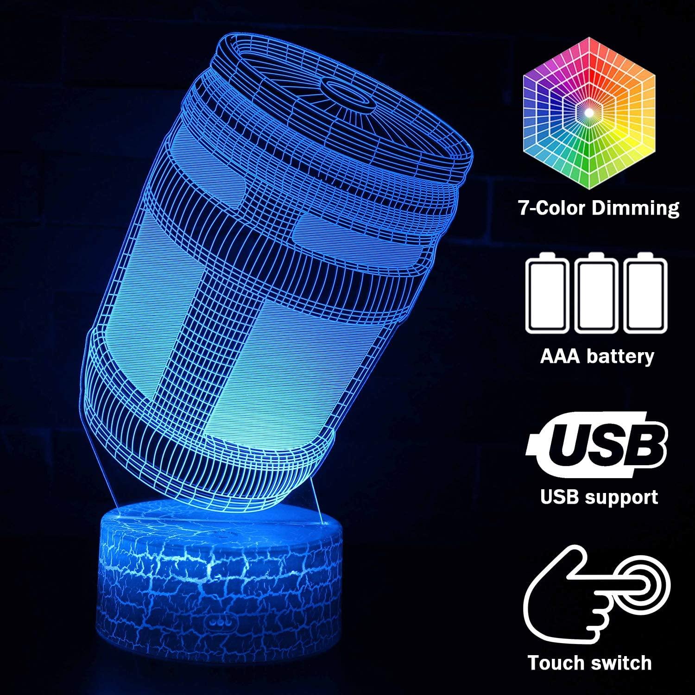 Multi Color Night Lights for Kids Baby Teen 3D Illusion Lamp, RemoveableLightingLamp Room Decor (Energy Box)