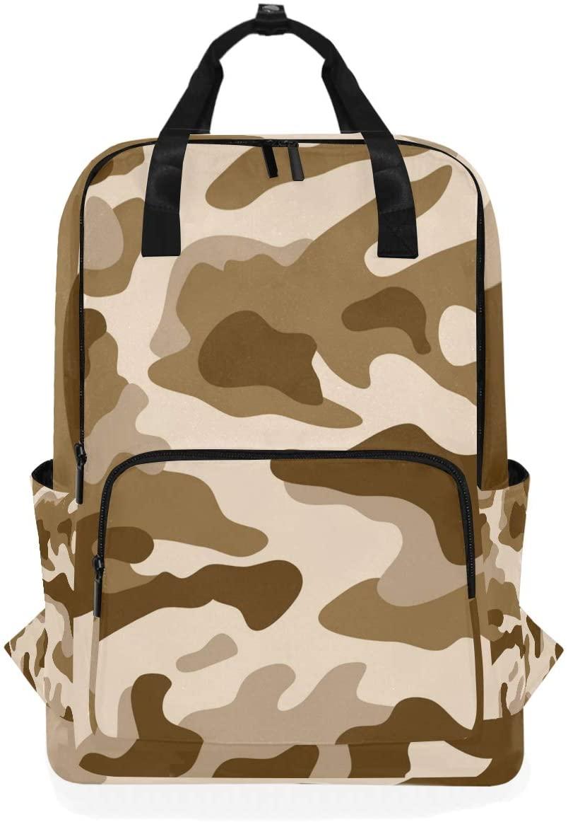Art Grey Military Camouflage Backpack Bookbag for School Boys Girls Laptop Bag Travel Shoulder Bags Women Men