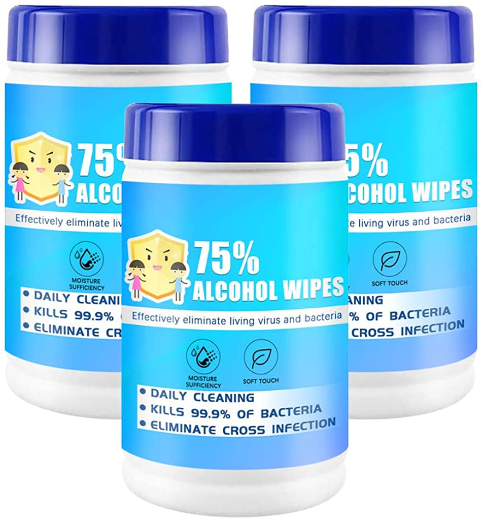 60 Sheet Portable Canned 75% Soft Skin-friendly for Adults Family, Travel, Bathroom & Kitchen