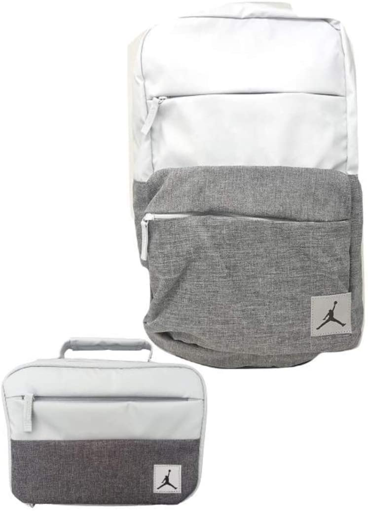 Jordan Brand Jumpman Backpack & Matching Insulated Lunch Tote (Pure Platinum)