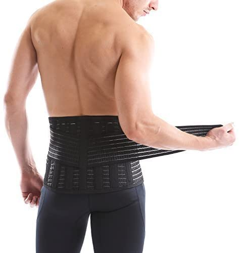 Vital Salveo-Germanium and Bamboo Back Support Lift Heavy Objects, Standing, Relive Back Pain SC-Pro(XXL)