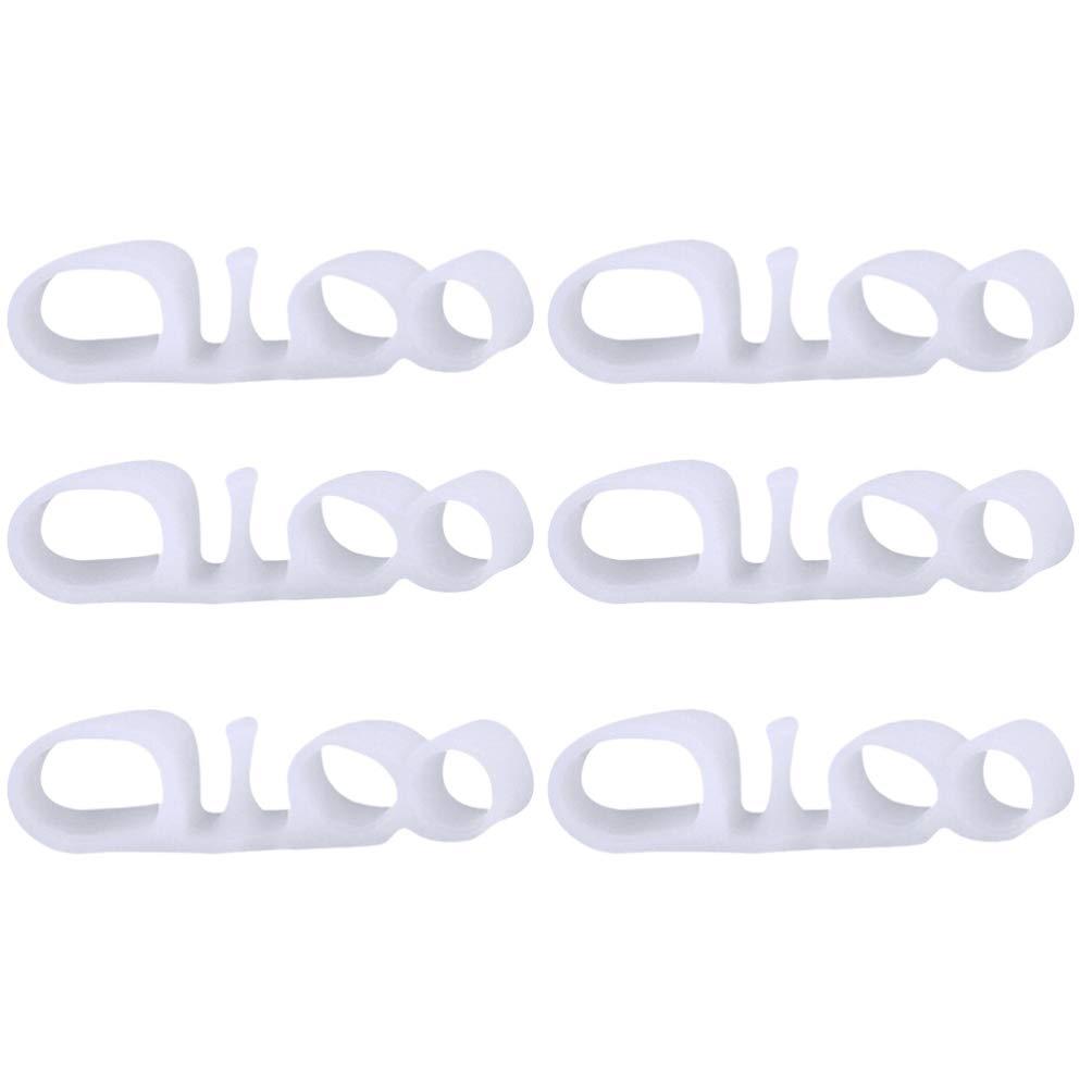 SUPVOX 3 Pairs Claw Toe Corrector 3 Holes Hammer Toe Straightener Separators Bunion Splint Support Protector for Women Men