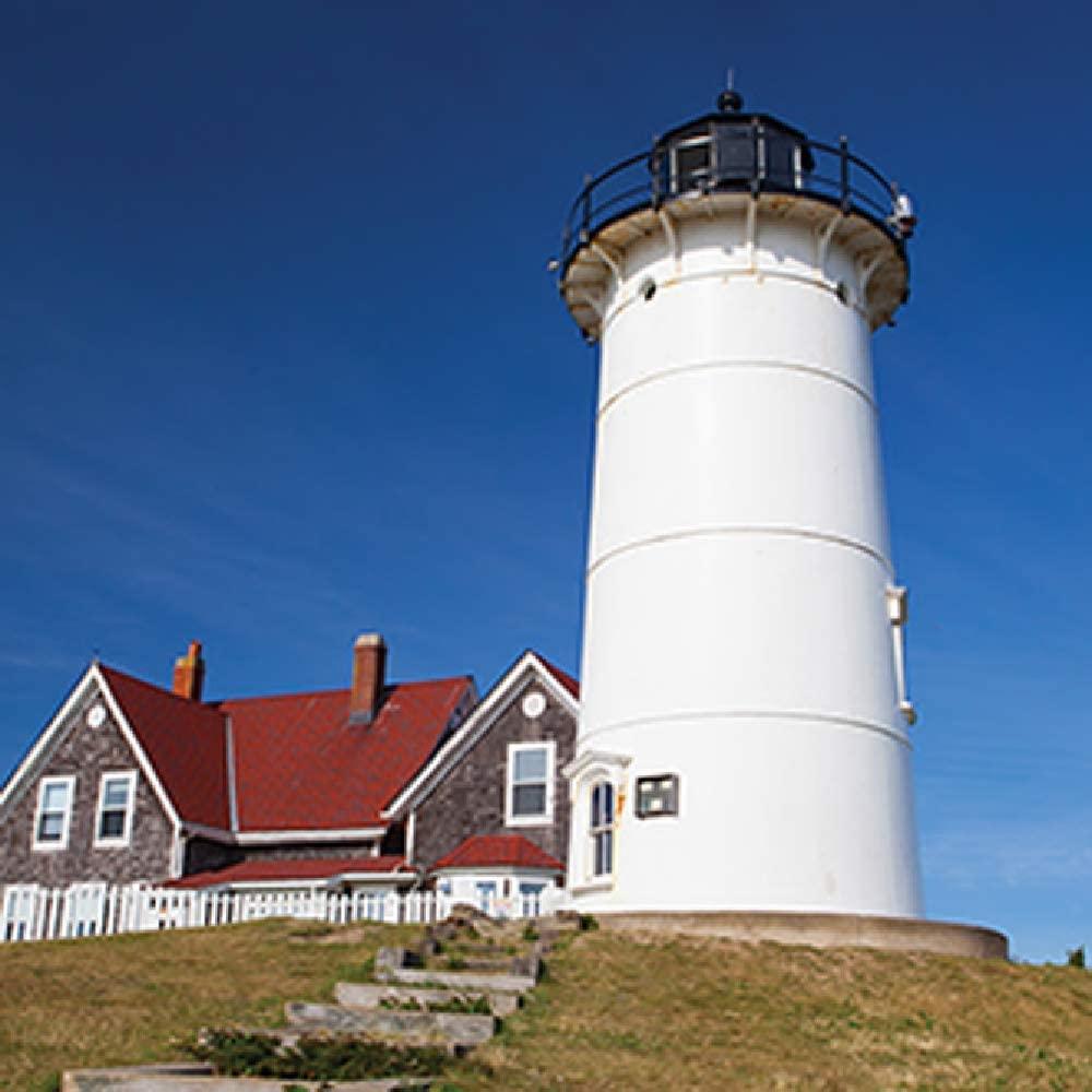 Carson Nobska Lighthouse Square House Coaster Set