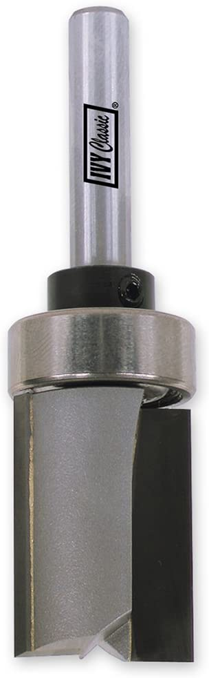 IVY Classic 10900 1/2-Inch Pattern Cutting Carbide Router Bit with Upper Ball Bearing, 1/4-Inch Shank, 1/Pouch