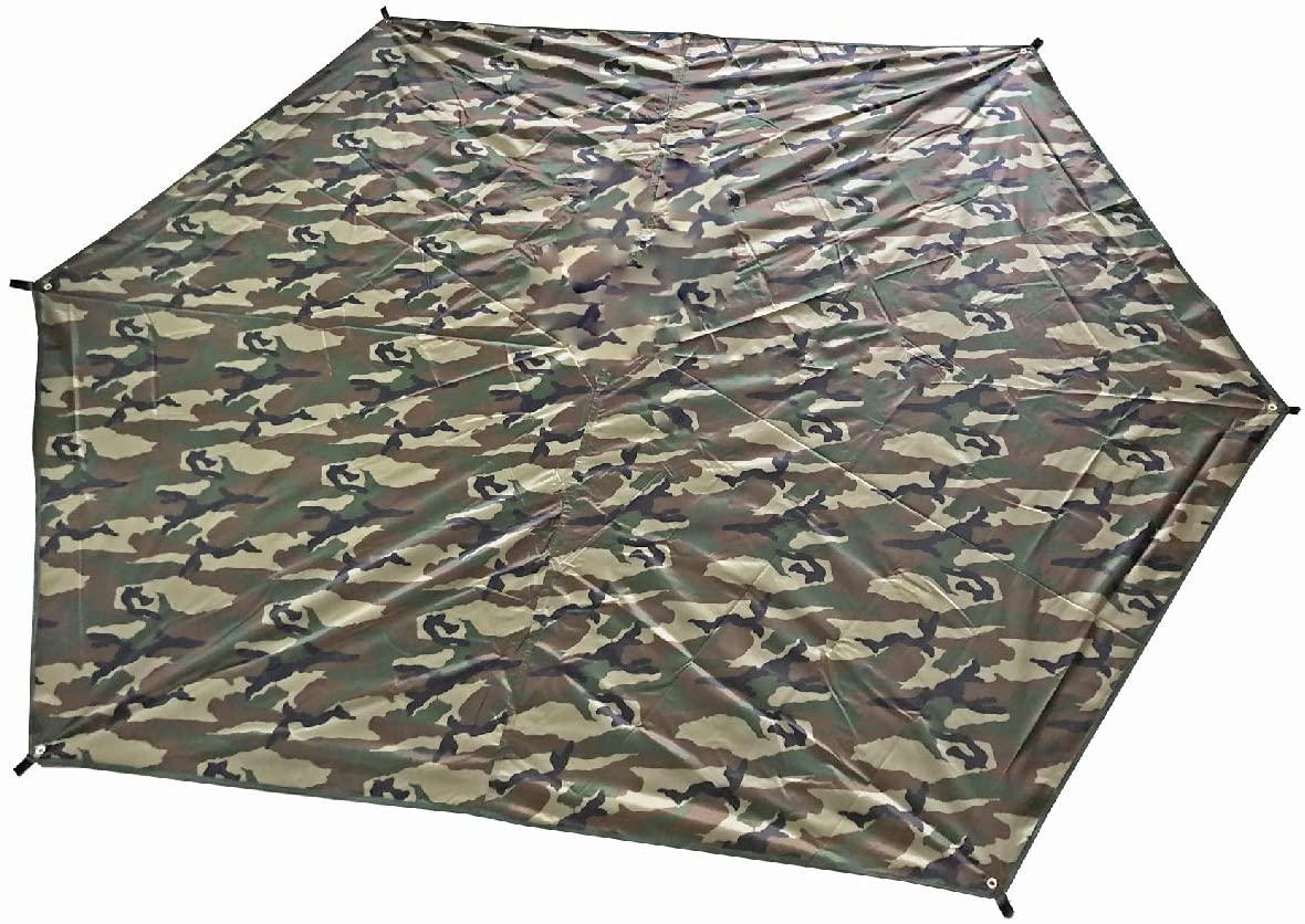 TRIWONDER Waterproof Hexagonal Hammock Rain Fly Tent Tarp Footprint Ground Cloth Camping Shelter Sunshade Beach Picnic Mat for Hiking Picnic