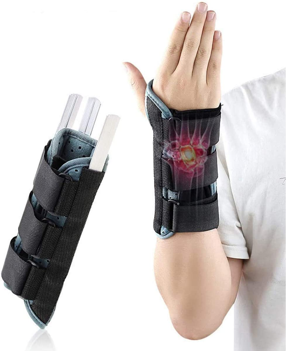 DouHeal Carpal Tunnel Wrist Brace, Expert Recommend, Built-in Metal Plate, Night Time Support for Men & Women, Universal Hand Splint Protector for Tendonitis, Bowling, Arthritis, Athletic Pain, Sport